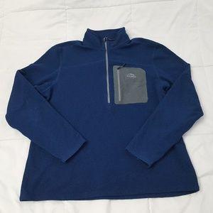 L.L. Bean Fleece Jacket Mens XL Blue 1/2 Zip